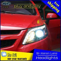 580.50$  Buy now - http://alimt9.worldwells.pw/go.php?t=32742452501 - CDX car Styling Head Lamp for  Sail Headlights 2012 Sail LED Headlight DRL Daytime Running Light Bi-Xenon HID Accessories 580.50$