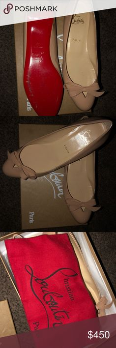 eae99cca1 Christian Louboutin ballerina slides! Worn once! I've worn these shoes only  1