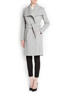 MAXI FLAP FLECKED COAT