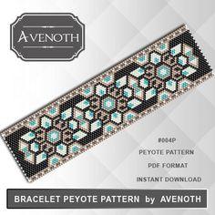 Peyote bracelet pattern peyote pattern by AvenothBeadPatterns                                                                                                                                                                                 More
