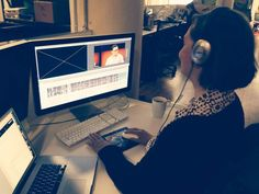 One of TED's video editors, Kari Mulholland, hard at work. Below, her editing advice. Photo: Biljana Labovic