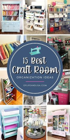 Get your craft room in tip top shape with these DIY organization ideas you'll love. #organized #organization #craftroom #crafts #diy #homedecor #organisation #craftroomorganization #craftroomideas #cricut #silhouette #tieredtray #decor