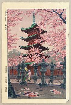 1953 - Kasamatsu Shiro - Eight Views of Tokyo - Toshogu Shrine - Artelino