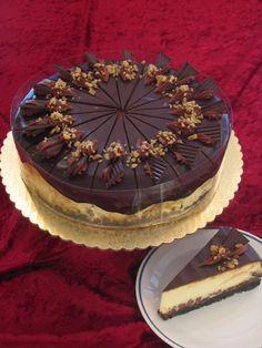 Chocolade Cheesecake met salted Karamel