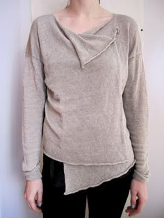 Nice restyle of a sweater or sweatshirt.