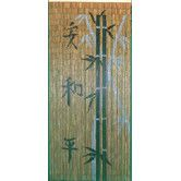 Found it at Wayfair - Chinese Characters with Bamboo Scene Single Curtain Panel