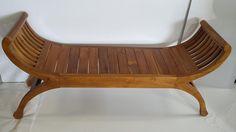 TEAK KARTINA ROLL ARM BENCH SEAT