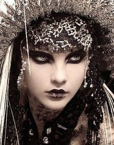 Goth couture makeup
