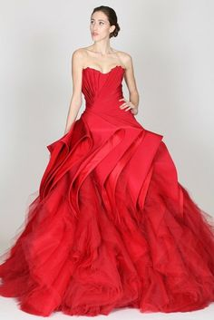 Zac Posen pre-fall collection 2012 - this is a great red!