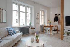 aranżacja otwartej zabudowy małego mieszkania - Lovingit.pl