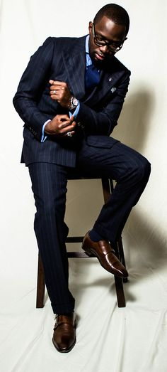 dapper well-dressed stylish black men class via (FB: African Men Killing It) Men In Black, Suit Up, Suit And Tie, Sharp Dressed Man, Well Dressed Men, Gq, Suit Fashion, Mens Fashion, Fashion Menswear