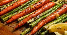 Asparagus & Honey Glazed Carrots