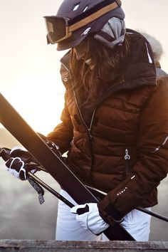 Pinterest: @ theapresgal ❄△ | Luhta ski fashion. Great brand I have a one piece from them that is on exhibit at the Vermont ski and snowboard museum. Pair this jacket with our Catwalk helmet hugger