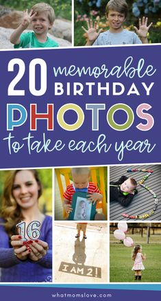 Photos to take of your child each year + more meaningful birthday traditions   These fun ideas will make your child feel special without throwing a big party, including a birthday countdown, unforgettable birthday morning breakfasts, scavenger hunts and more. Perfect for celebrating birthdays at home.