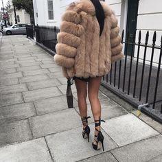 Natural fox fur coat - Handmade fox fur coat - Many colors avaiable - Free DHL shipping - No Tax