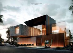 _ What an innovative exterior design for everyone, we love it! Do you like them stunning . - _ What an innovative exterior design for everyone, we love it! Do you like them breathtaking … # - Minimalist Architecture, Modern Architecture House, Amazing Architecture, Architecture Design, Design Exterior, Facade Design, Modern Villa Design, Contemporary Design, House Front Design