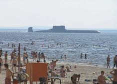 Just an ordinary day at the beach  in Russia