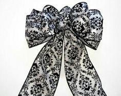 Damask wedding bows
