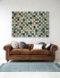 Wooden Art Wall Sculpture - Reclaimed wood - Rustic Sculpture | Wall ...