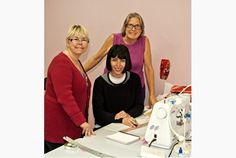 Beverly Johnson, left, owner of Bra-maker's Supply has taught over 10,000 people how to make bras. l Hamilton, Ont.