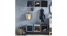 IKEA : 25 idées pour combiner les éléments EKET dans la maison Ikea Eket, Office Shelf, Vestibule, Entrance Hall, Mudroom, Scandinavian Design, Entryway, Shelves, House