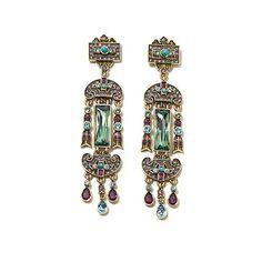 """Heidi Daus """"Discerning Style"""" Crystal Drop Earrings"""