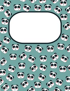 Free printable panda binder cover template. Download the cover in JPG or PDF format at http://bindercovers.net/download/panda-binder-cover/