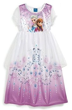 DISNEY 'FrozenTM' Fantasy Nightgown (Toddler Girls), Your little princess will look forward to bedtime in this adorable dress-up nightgown that features a sheer split-front overlay for a regal finish. Frozen Elsa And Anna, Disney Frozen Elsa, Cute Little Girls Outfits, Kids Outfits, Anna Dress, Dress Up, Toddler Girl Gifts, Toddler Girls, Girls 4