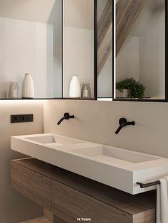 VILLAGGO HOUSE on Behance Natural Wood, Behance, Interior Design, Mirror, Bedroom, Modern, House, Furniture, Home Decor