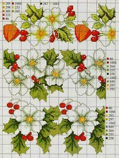 Cross-stitch Floral Borders...   ENCANTOS EM PONTO CRUZ: Flores