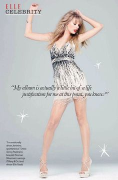 Taylor Swift   Photography by Andrew MacPherson   for Elle Magazine Canada   December 2012   ICONOGRAPHY