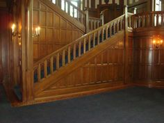 Hatley Castle staircase