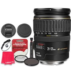 Introducing Canon EF 28135mm f3556 IS USM Lens with Elite Optics Commander Pro HD Series UltraViolet Protector UV Filter  Circular Polarizer CPL MultiCoated Filter  International Version. Great Product and follow us to get more updates! Canon Zoom Lens, Canon Ef, Ultra Violet, Binoculars, Filters