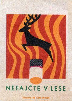 Matchbox label, Czechoslovakia