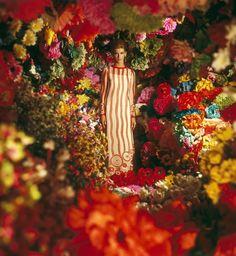 Vicki Hilbert at the flower market, By Photographer Norman Parkinson For Vogue Paris, January 1966