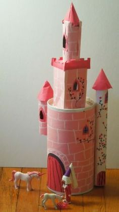 chateau de fée en carton, nov. 2011 castle princess knight craft for kids