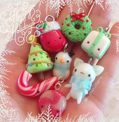 Fimo Kawaii, Polymer Clay Kawaii, Fimo Clay, Polymer Clay Charms, Polymer Clay Projects, Polymer Clay Art, Clay Crafts, Polymer Clay Jewelry, Polymer Clay Miniatures