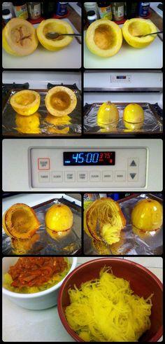 How to bake spaghetti squash - Use spaghetti squash as a healthy alternative to pasta in any dish