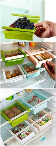 Maximize your storage space with the Refrigerator Sliding Drawer. Large enough t… Maximize your storage space with the Refrigerator Sliding Drawer. Large enough to hold food items but small enough to not take up valuable room. Kitchen Pantry, Kitchen Hacks, Kitchen Dining, Kitchen Shelves, Kitchen Ideas, Kitchen Tools, New Kitchen Gadgets, Pantry Ideas, Kitchen Drawers