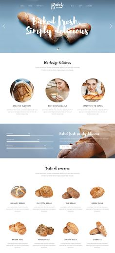Baker - A Fresh Theme for Bakeries, Cake Shops, and Pastry Stores #wordpress