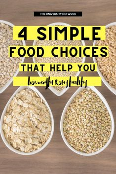 Certain food choices can promote weight loss AND provide the nutrients you need to function well and thrive. These four food choices are a good place to start!