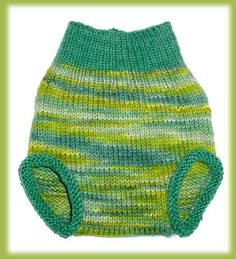 Rainforest Knitted Wool Cloth Diaper Cover ~ $22.00