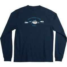 Southern Tide Men's Classic Oars L/S Tee, Color Navy, Size XX-Large ($38) ❤ liked on Polyvore featuring mens, men's clothing, men's shirts, men's t-shirts, tops, shirts, t-shirts and tees
