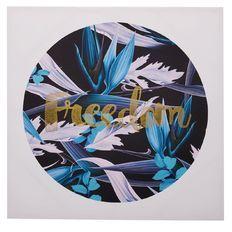 Design House Canvas Art Freedom Blue 80cm x 80cm