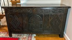 Circa 1675 - A beautifully carved 17th Century coffer that shows off a very nice patina.