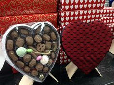 #Chocolate filled heart gift #heart boxes <3  www.dunmorecandykitchen.com