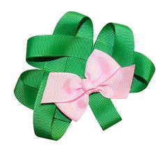 WD2U Girls Lucky Green Shamrock Clover St Patricks Day Hair Bow Alligator Clip * Click on the image for additional details.