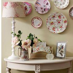 Pratos na parede - Reciclar e Decorar