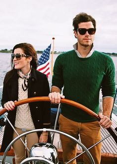 The unabridged, photographic tale & life of New Englanders Kiel James Patrick and Sarah Vickers. Moda Preppy, Preppy Mode, Prep Style, My Style, Couple Style, Adrette Outfits, Preppy Outfits, Segel Outfit, Mode Bcbg