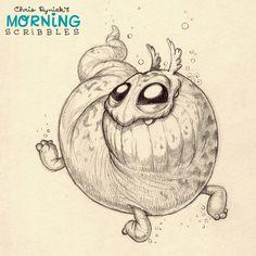 Let's go swimming!  #morningscribbles   출처: CHRIS RYNIAK